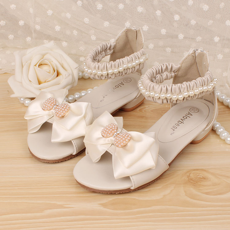 2015新款儿童皮凉鞋韩版女童鞋公主高跟鞋